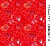 hearts seamless pattern. doodle ... | Shutterstock .eps vector #362494988