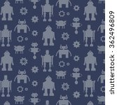 robot silhouette pattern | Shutterstock .eps vector #362496809