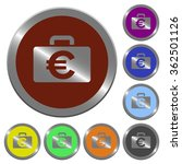 set of glossy coin like euro...