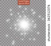 glow light effect. star burst... | Shutterstock .eps vector #362512376
