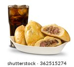 esfiha meat and soda on the... | Shutterstock . vector #362515274