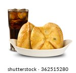 esfiha meat and soda on the... | Shutterstock . vector #362515280