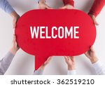 Small photo of Group of People Message Talking Communication WELCOME Concept