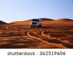 Off Road Vehicle On Sand Dunes  ...