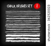 set of chalk brushes. grunge... | Shutterstock .eps vector #362520323
