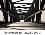 wood and steel foot bridge in...   Shutterstock . vector #362521970