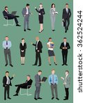 set of business people ... | Shutterstock .eps vector #362524244