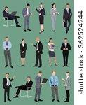 set of business people ... | Shutterstock .eps vector #362524244