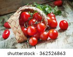 Small Red Cherry Tomatoes Spil...
