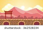seamless fantasy landscape ...   Shutterstock .eps vector #362528234