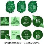 vector logo set. healthy food.... | Shutterstock .eps vector #362529098