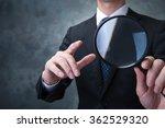 businessman  magnifying glass | Shutterstock . vector #362529320