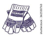 garden work gloves vector... | Shutterstock .eps vector #362530763