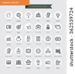 thin thin line icons set of... | Shutterstock .eps vector #362539724