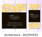 vintage delicate invitation... | Shutterstock . vector #362544353