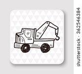 truck doodle | Shutterstock . vector #362546384