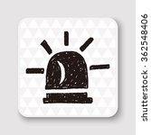 warning light doodle | Shutterstock . vector #362548406