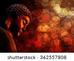 bronze zen buddha statue... | Shutterstock . vector #362557808