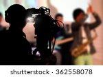 cameraman shooting a live...   Shutterstock . vector #362558078