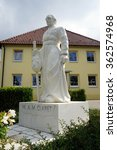 Small photo of SPAICHINGEN, GERMANY - CIRCA AUGUST 2015 Monument of A,M,Claret in Dreifaltigkeitsberges