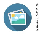 photo gallery. flat icon with...