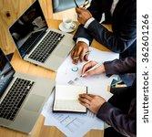 business team working on a new... | Shutterstock . vector #362601266