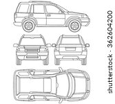 car offroad line draw insurance ... | Shutterstock .eps vector #362604200