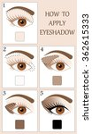 make up tutorial set   stages... | Shutterstock .eps vector #362615333
