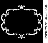 Vintage baroque frame scroll ornament engraving border floral retro pattern antique style acanthus foliage swirl decorative design element filigree calligraphy vector | chalkboard ornaments