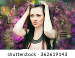 woman's face  magic of figures  ... | Shutterstock . vector #362619143