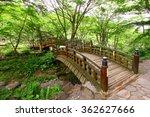 wood bridge in green garden ... | Shutterstock . vector #362627666