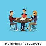 focus group target audience at... | Shutterstock .eps vector #362629058