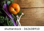 vegetables top view studio shot ... | Shutterstock . vector #362638910