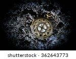 vintage pocket watch on grunge... | Shutterstock . vector #362643773