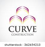 curve construction ribbon... | Shutterstock .eps vector #362654213