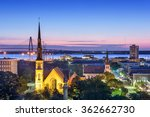 charleston  south carolina  usa ... | Shutterstock . vector #362662730