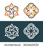 vector flowers  multicolor and... | Shutterstock .eps vector #362663420