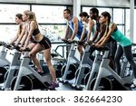 fit people working out at class ... | Shutterstock . vector #362664230