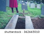 A Freshly Dug Open Grave In A...
