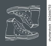 gym shoes   by hand the drawn... | Shutterstock .eps vector #362666753