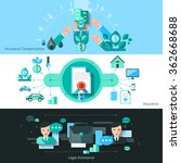 insurance horizontal banners... | Shutterstock .eps vector #362668688