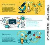 science line horizontal banners ... | Shutterstock .eps vector #362668838