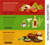 mexican drinks snacks and... | Shutterstock .eps vector #362669780