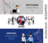 business people office concept... | Shutterstock .eps vector #362669903