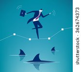 among sharks. business concept... | Shutterstock .eps vector #362674373