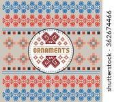 ethnic national ornaments.... | Shutterstock .eps vector #362674466
