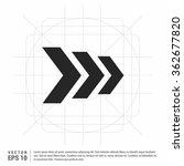 vector next arrow icon | Shutterstock .eps vector #362677820