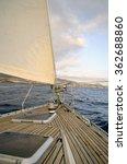 yacht sailing in atlantic ocean.... | Shutterstock . vector #362688860