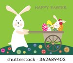 easter bunnies and easter eggs. ... | Shutterstock .eps vector #362689403