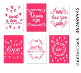 set greeting card valentines... | Shutterstock .eps vector #362689943